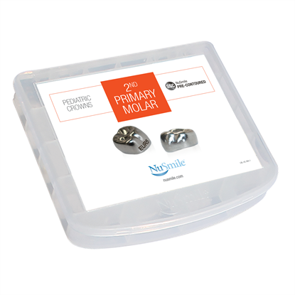 Picture of NuSmile SSC Pre-contoured 2nd Primary Molar Crown Storage Box